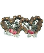 Shabby Country Wicker Hearts Decor Lace & D... - $4.99