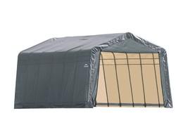 Shelter Logic 12x24x8 Peak Style Shelter - Grey Cover (model 72434) - $839.95