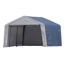 Shelter Logic 12×12×8 Peak Style Storage Shed - Grey Cover  (model 70443) - $348.95