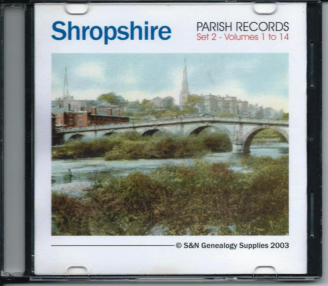 Primary image for CD: Shropshire Parish Records, Set 2, Volumes 1 to 14