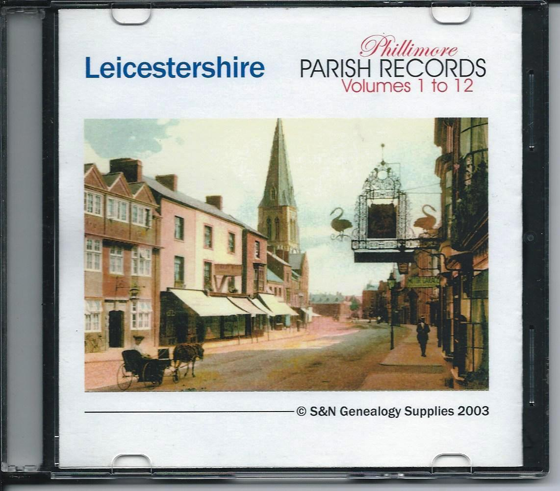 Primary image for CD: Leicestershire Phillimore Parish Records, Marriages, Volumes 01 to 12