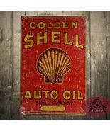 golden shell auto oil retro tin sign street rod for the garage man cave.jpg 200x200 thumbtall