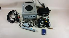 Nintendo silver grey GameCube console bundle microphone memory card - $50.00