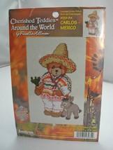Janlynn Cherished Teddies Around the World Cross Stitch Kit  Carlos - Mexico - $6.60