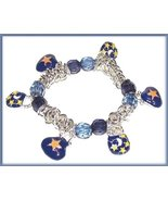 Celestial Charm Bracelet Midnight Blue Moon & Stars on Mini Purses New - $14.99