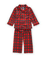 Tom & Jerry Toddler Boys Holiday Plaid Tailored Pajamas - $35.00