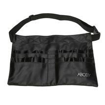 Black Two Arrays Makeup Brush Holder Professional Bag Artist Belt Strap Protable image 3