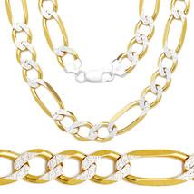 6.5mm Men/Women's Solid 14K YG 925 Silver Figaro Link Italian Chain Neck... - $93.86+