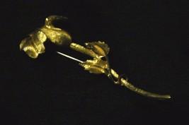 Beautiful Vintage BSK Goldtone Large Flower Brooch - $33.65