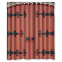 Old Ancient Door #02 Shower Curtain Waterproof Made From Polyester - $31.26+