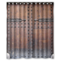 Old Ancient Door #03 Shower Curtain Waterproof Made From Polyester - $31.26+