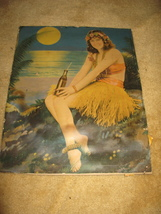 Vintage Pinup Print Girl in Hula Skirt with Sod... - $125.00