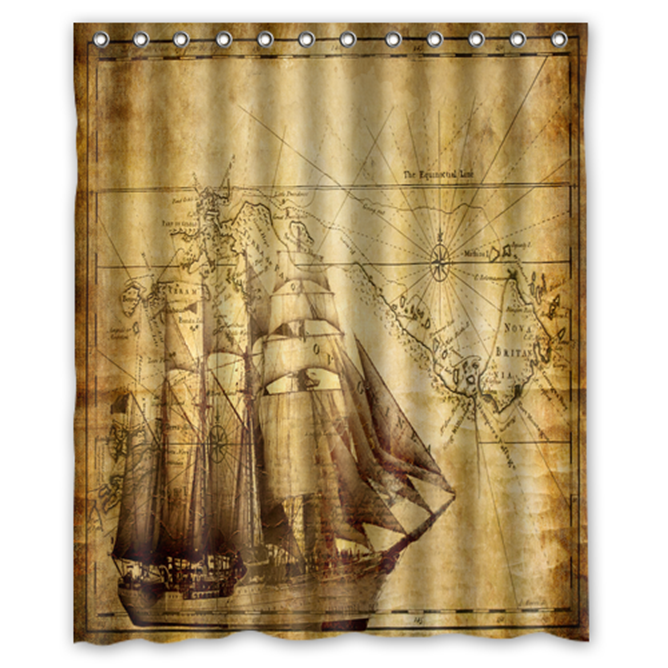 Old Ancient Door #08 Shower Curtain Waterproof Made From Polyester