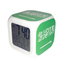 Led Alarm Clock Saudi Arabia National Flag Creative Desk Digital Clock K... - $19.99
