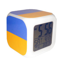 Led Alarm Clock Ukraine National Flag Creative Desk Digital Clock Kids T... - $19.99