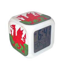 Led Alarm Clock Wales National Flag Creative Desk Digital Clock Kids Toy... - $19.99