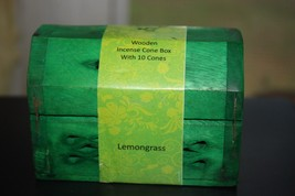 "Zen Garden Cone incense ""Lemongrass"" in Wood box - $8.80"