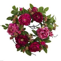 "Christmas Holiday 22"" Apple Berry Wreath Home Decor - $59.88"