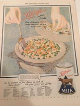 1928 LIBBY MILK CAN PEA SOUP RECIPE DAIRY HOME ... - $13.98