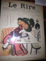 Original LE RIRE Cover Lithograph by Caran D`Ache Feb 5 1898 linen backed - $18.48