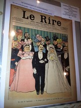 Original LE RIRE Cover Lithograph by Charles Huard 1898 on linen - $18.66