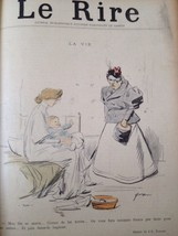 Vintage authentic Forain Print Lithograph Cover Le Rire 1896 - $13.98