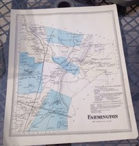 VINTAGE Late 1800s Farmington ,Connecticut MAP FROM  BAKER & TILDEN - $23.20