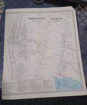 VINTAGE Late 1800s Thompsonville,Enfield Connecticut MAP FROM  BAKER & T... - $23.20