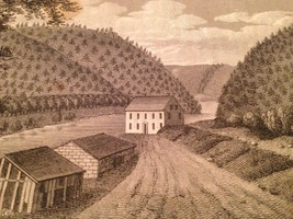 Vintage 1800's Antique Print Engraving Lehigh Water Gap - $18.66
