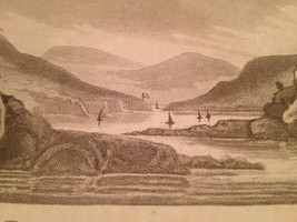 Vintage 1800's Antique Print Steel Engraving Fort Putnam West Point - $18.66