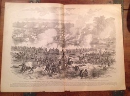 Battle Of White Oak Swamp Print 1895 Civil War Frank Leslie's illustrated - $28.01