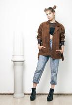 80s vintage suede leather jacket - $88.12