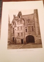 French Print Photograph Hotels & Maisons De La Renaissance Franchise Poi... - $28.01