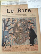 Original LE RIRE Cover Lithograph by Robert GYP March 25 1895 linen backed - $18.48