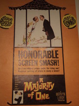 A Majority of One,Original Movie Poster , Rosalind Russell, Alec Guiness - $27.83