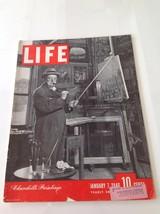 Winston Churchill Art Europe Post War Wall Street 1946 January 7 Life Ma... - $18.66