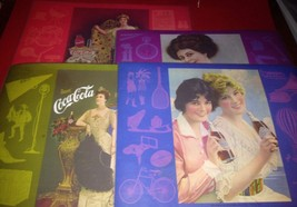 Vintage Set of 4 Coca Cola Coke 1970s Place Mats ladies Early 1900s  MINT - $14.03