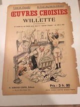 Original Vintage Print Oeuvres WIllette Art Nouveau Courrier Francais Ex... - $93.50