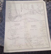 VINTAGE Late 1800s Naubec,Hockanum,Burnside Connecticut MAP FROM  BAKER ... - $23.20