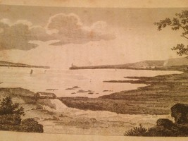 Vintage 1800's Antique Print STEEL ENGRAVING Lucerne County On The St La... - $18.66