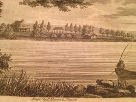 Vintage 1800's Antique Print Engraving East River New York From Rikers I... - $18.66