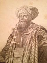 Vintage 1800's Antique Print Steel Engraving Ali Bey El Abbrassi - $18.66
