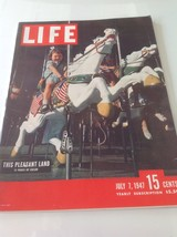 Vintage Life Magazine 1947 July 7 Bugsy Siegel Alexander Hamilton Laurel... - $13.98