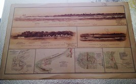 HUGE ANTIQUE 1893 FORT SUMTER JOHNSON CHARLESTON SOUTH CAROLINA CIVIL WA... - $140.25