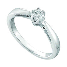 Sterling Silver Round Diamond Solitaire Bridal Wedding Engagement Ring 1... - £38.72 GBP