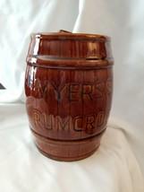 """Meyers's Rumcrock  Cookie Jar 7"""" - $9.85"""