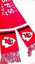 """Brand New Scarf Kansas City Chiefs Nfl Knit Express Scarf 68""""BY 7"""" Nwt - $15.99"""