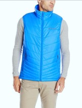 Columbia Mens M Mighty Light Vest Lightweight Omni Heat Warm Blue Jacket... - $42.51
