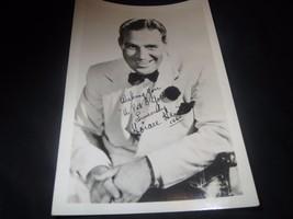 Horace Heidt photo photograph 4.75 x 7 in., autopen autograph RARE dated... - $10.35