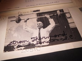 1996 mail-in Senator Strom Thurmond Autograph on a 1989 Time-Life Game Card - $58.41
